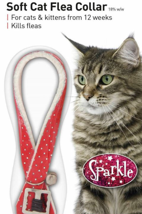 Beaphar Cat Flea Collar Sparkle Red