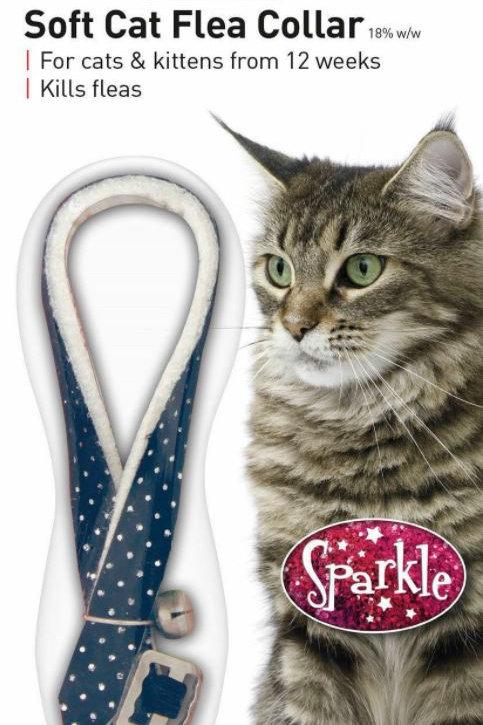 Beaphar Cat Flea Collar Sparkle Blue