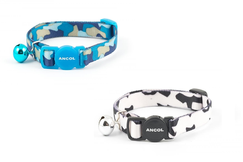 Ancol CAMOUFLAGE Cat Collar & Bell 20-30cm