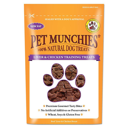 Pet Munchies 100% Natural Liver & Chicken Training Treats 50g