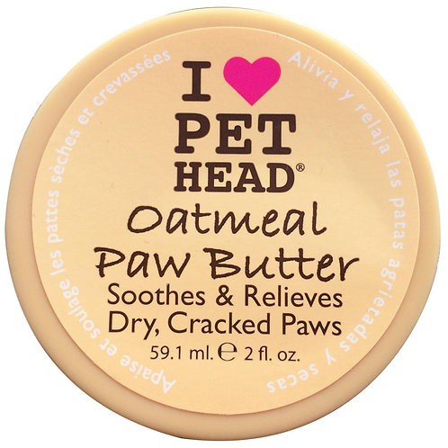 I Love Pet Head Oatmeal Paw Butter 2 Oz For Dry Cracked Paws Relief Cats & Dogs