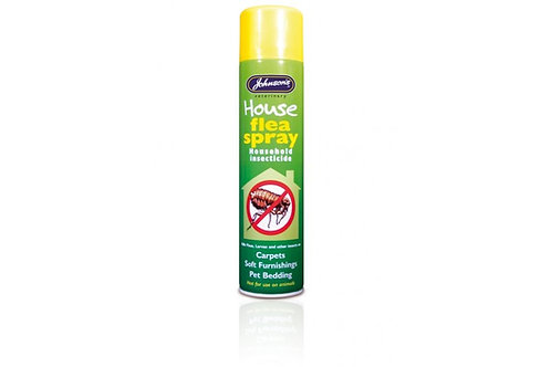 Johnson's House Flea Spray use on Carpets, Pet Bedding, Soft Furnishings 400ml