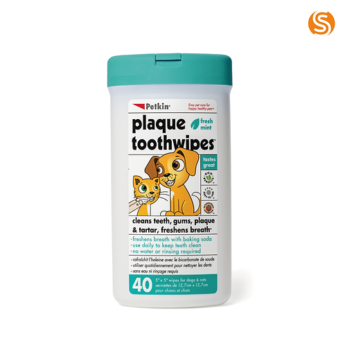 Petkin Plaque Tooth Wipes
