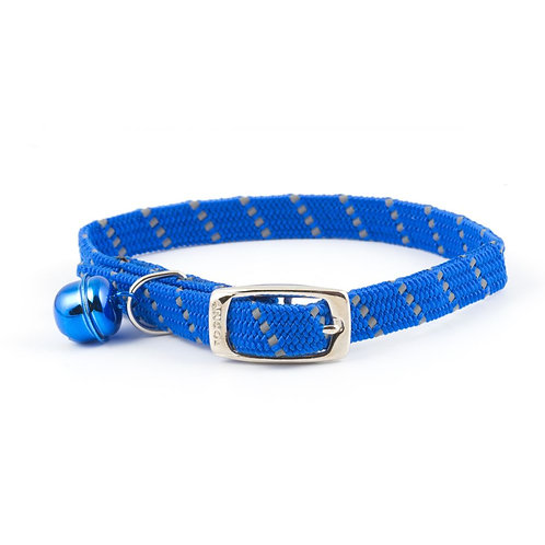 Ancol Cat Collar Reflective, Softweave & Elasticated Blue
