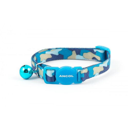 Ancol Cat Collar Camouflage Blue 20-30cm