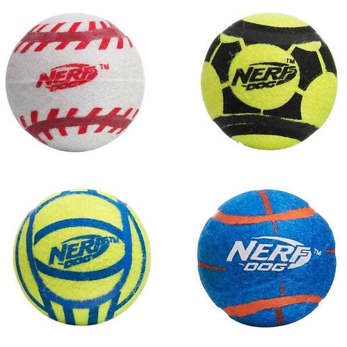 NERF Dog Sports Tennis Balls 4 Pack