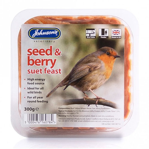 Johnsons Seed & Berry Suet Feast 300g