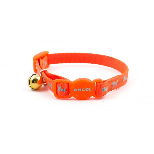 Ancol Kitten Collar Hi-Vis Orange 11-20cm
