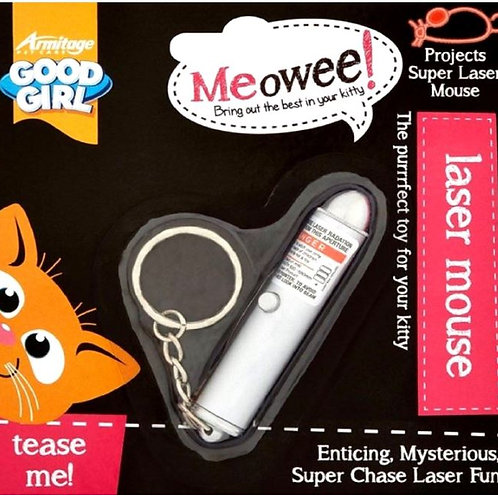 Good Girl Laser Mouse Cat Toy Chase Hunt Play Keyring,Chain & Batteries Included