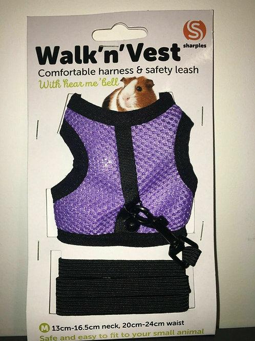 Small n Furry Walk n Vest n Leash Purple