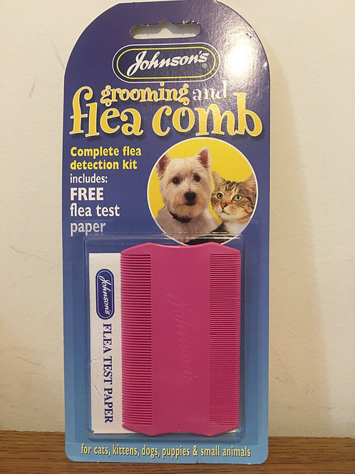 Johnson's Grooming & Flea Comb Pink