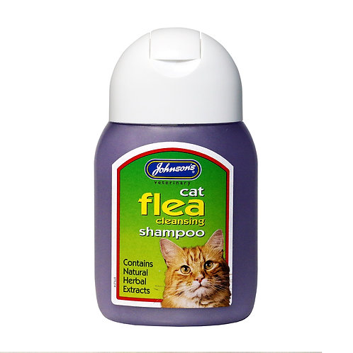 Johnson's Cat Flea Cleansing Shampoo 125ml