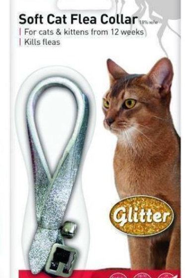Beaphar Cat Flea Collar Glitter Silver