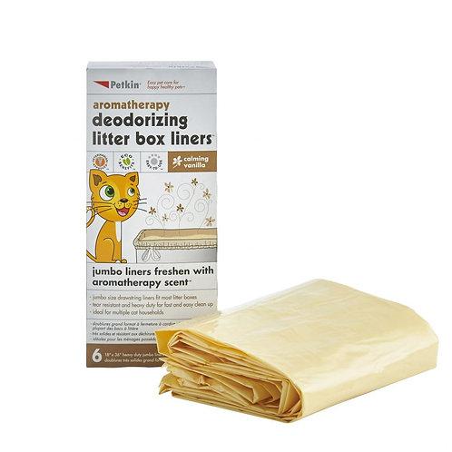 Petkin Jumbo Litter Tray Liners Vanilla 6 Pack