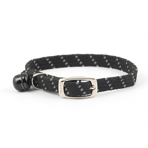 Ancol Cat Collar Reflective, Softweave & Elasticated Black