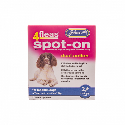 Johnson's 4Fleas Spot On Dual Action Medium Dogs