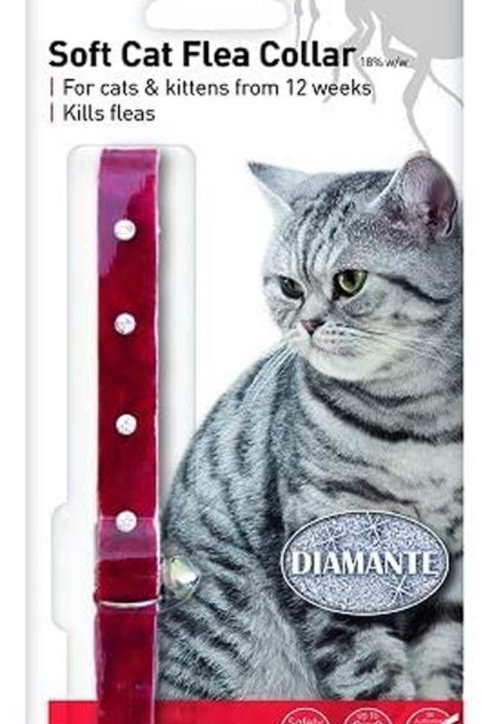 Beaphar Cat Flea Collar Diamante Red