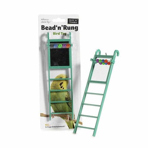 Ruff 'N' Tumble Bead 'N' Rung Bird Ladder with Mirror & Beads
