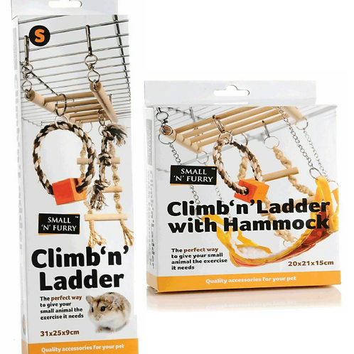 Small n Furry Climb n Ladder with or without Hammock