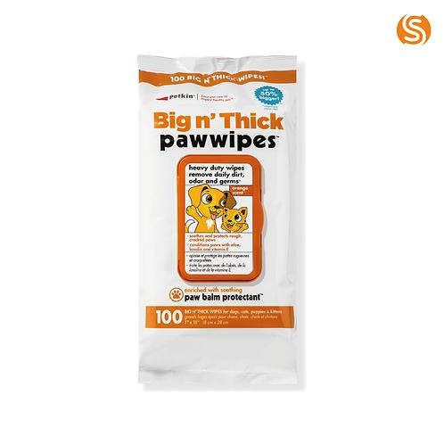 Petkin Big 'n' Thick Paw Wipes
