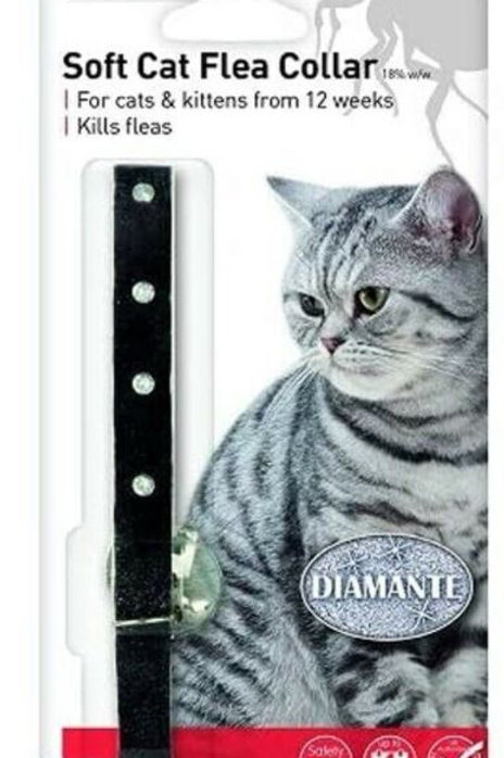 Beaphar Cat Flea Collar Diamante Black