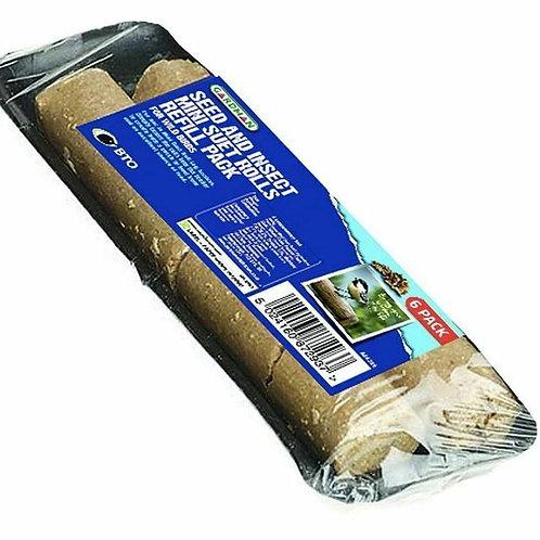 Gardman Mini Suet Logs Rolls Seed & Insect Refill 6 Pack