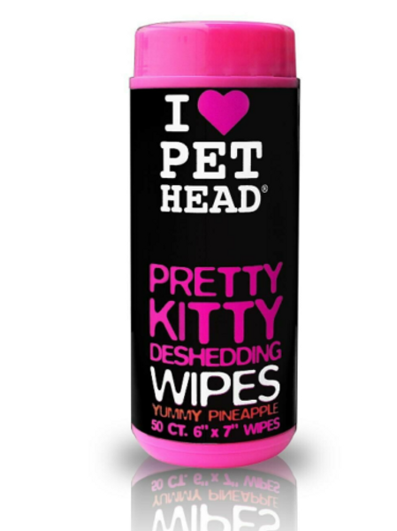 I Love Pet Head Pretty Kitty DeShedding Wipes x 50
