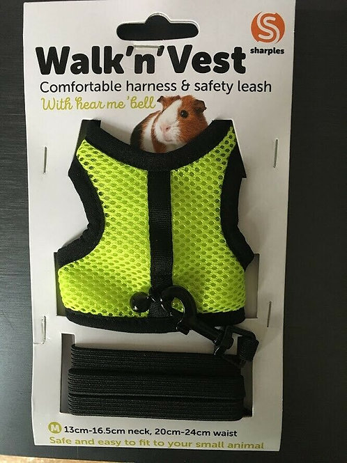Small n Furry Walk n Vest n Leash Yellow