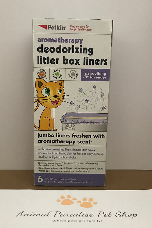 Petkin Jumbo Litter Tray Liners Lavender 6 Pack