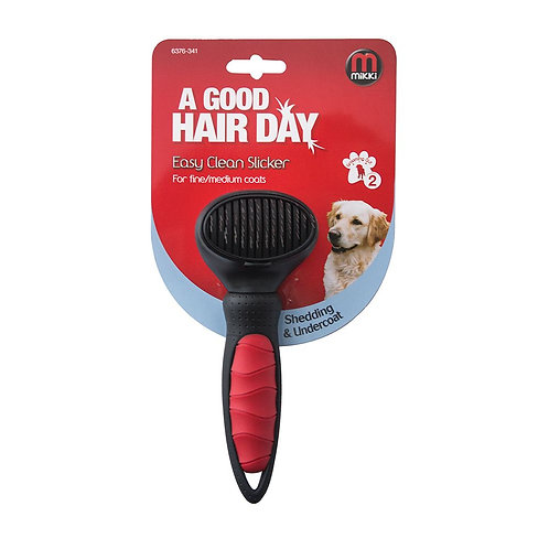 MIKKI Easy Clean Slicker Brush Extra Small Brush for Dogs & Puppy