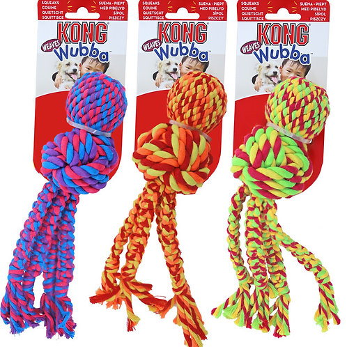 KONG Wubba Weaves with Rope Extra Large