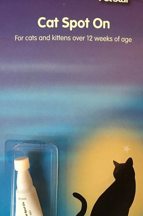 Cat Flea Spot On Drops Pipette Repels Fleas 4 Week Protection From 12 Weeks Old