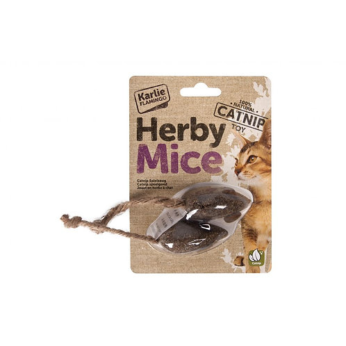 Herby Mice with Catnip 2 Pack