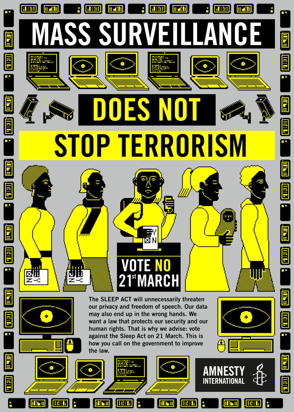 Mass surveillance does not stop terrorism
