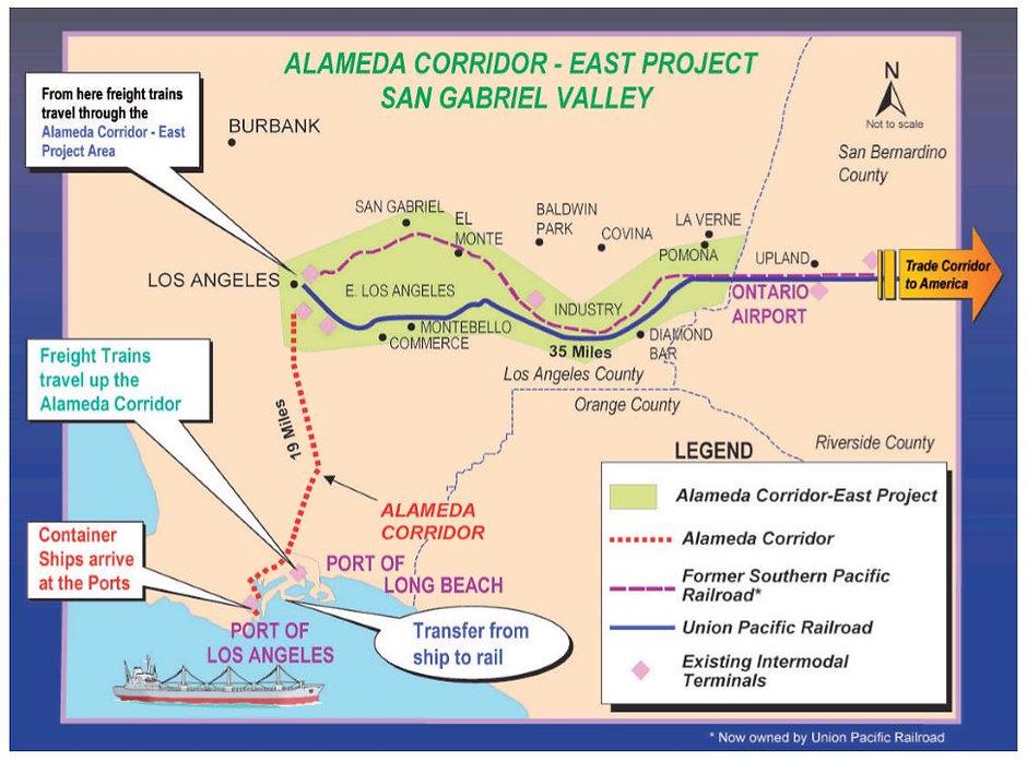 Alameda Corridor-East Rail Map