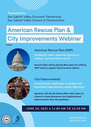 ARP and City Improvements Webinar Flyer.
