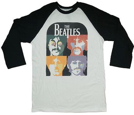 The Beatles - Posterized Faces Baseball Tee