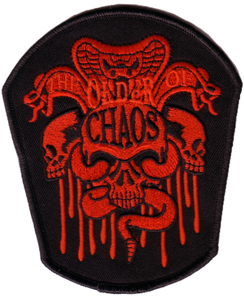The Order of Chaos - Snake Skull Red Embroidered Patch