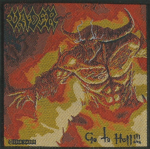 Vader - Go to Hell Woven Patch