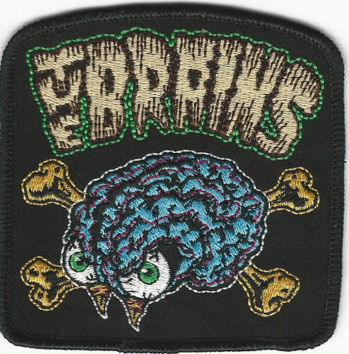 The Brains - No Brain, No Pain 13th Anniversary Embroidered Patch