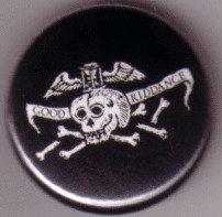 Good Riddance - Toothy Skull Pin