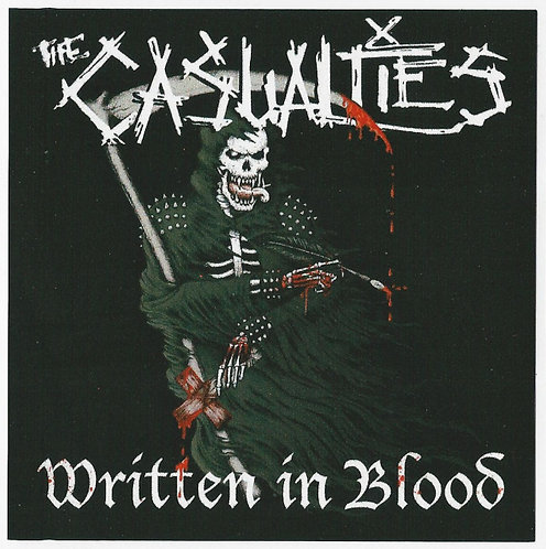 The Casualties - Written In Blood Sticker