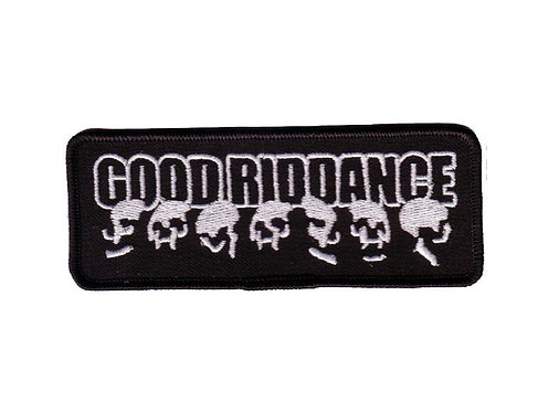 Good Riddance - DYI Skull Embroidered Patch