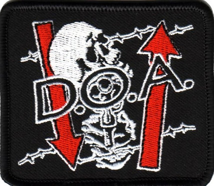 D.O.A. - Skeleton Embroidered Patch