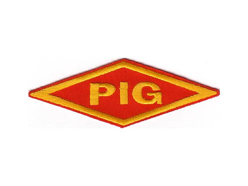 PIG - Diamond Logo Yellow Embroidered Patch