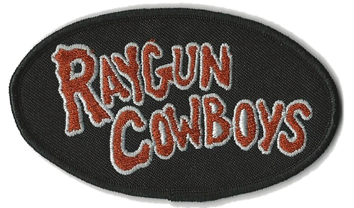 Raygun Cowboys - Red Logo Embroidered Patch