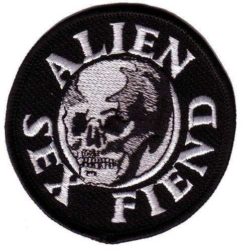 Alien Sex Fiend - Skull Embroidered Patch