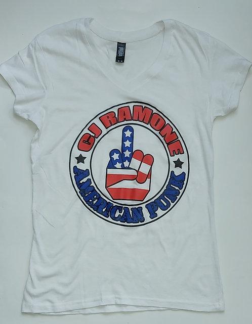 CJ Ramone - American Punk Finger Ladies Tee