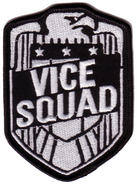 Vice Squad - Eagle Silver Embroidered Patch