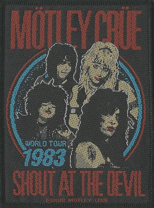 Motley Crue - Shout at the Devil Woven Patch